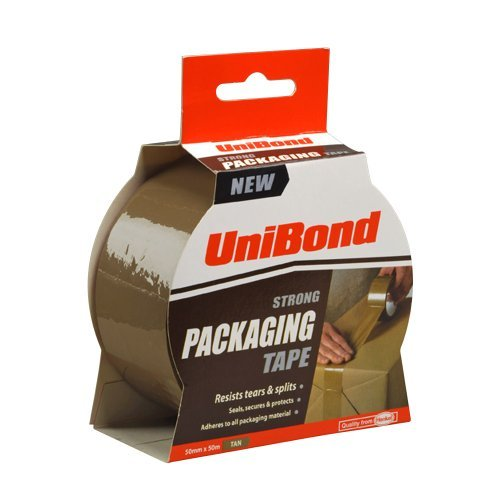 - UniBond Strong Packaging Tape - 50 mm x 50 m, Tan by Unibond