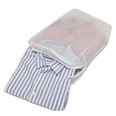 White 30 x 16 x 4 cm Caraselle 1938-1 Peva Storage Bag to Hold 5 Folded Shirts