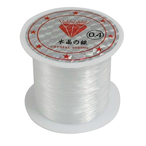 0.4 Mm Line (uxcell 34Lbs 0.4mm Diameter Beading Thread Nylon Fish Fishing Line Spool Clear)