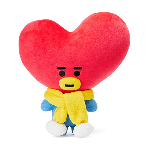 BT21 Official Merchandise with Line Friends - TATA Character Winter Standing Plush Toy Doll 11 inches