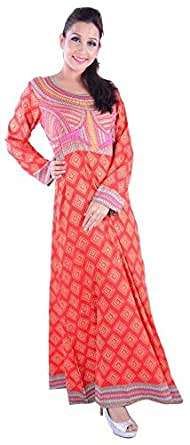 Click on Style Red Party Jalabiya For Women