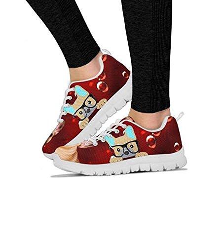 Women's Bulldog Running Custom Breed Your Casual Print Shoes Shoetup Dog Choose Sneakers French 7xtwqwXU4d