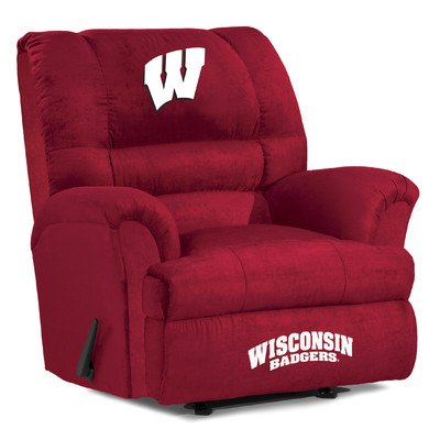 Imperial Officially Licensed NCAA Furniture: Big Daddy Microfiber Rocker Recliner, Wisconsin Badgers