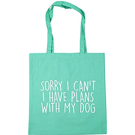 HippoWarehouse Sorry I Can't I Have Plans With My Dog Tote Shopping Gym Beach Bag 42cm x38cm, 10 litres 41lnCx rfML