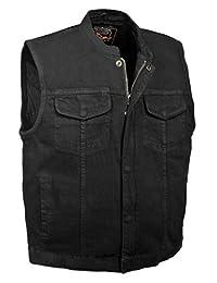 Milwaukee Men's Denim Club Vest with Hidden Snap and Zip (Black, XX-Large)