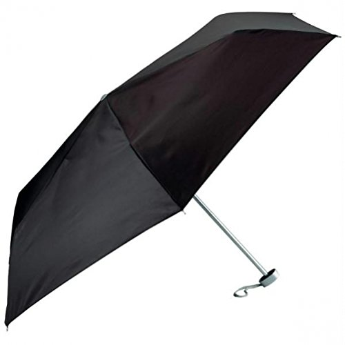 All-Weather GFUMLT Solid Black Mini Umbrella, 40,