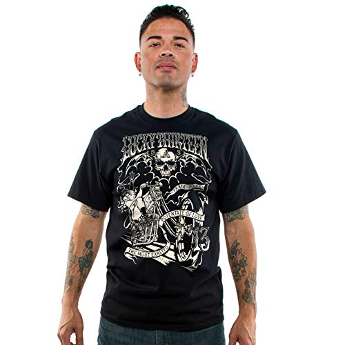Lucky 13 Men's Hellion T-Shirt Black 4XL
