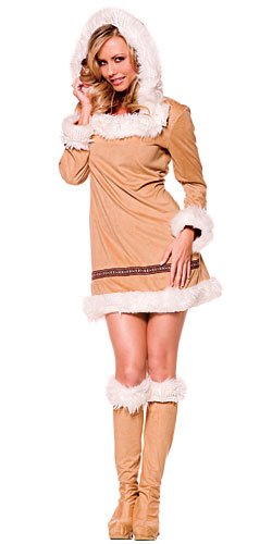 Eskimo Kisses Adult Costume - Medium White ()