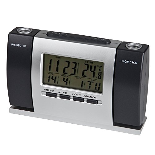 Timekeeper Digital face Alarm Clock with Projection Time ...