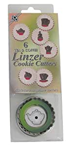 R & M Tea And Coffee Linzer Cookie Cutter Set