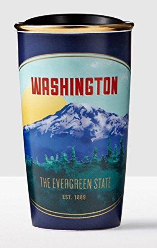 Starbucks Travel Coffee Mugs - Washington Traveler 12oz Local Collection Double Wall Ceramic 2016