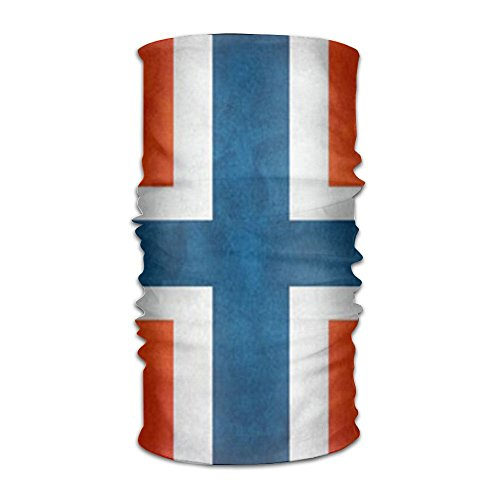 Coring Norwegian Flag Magic Headwear Scarf Headbands Bandana Mask Neck Gaiter Head Wrap Mask Sweatband ()