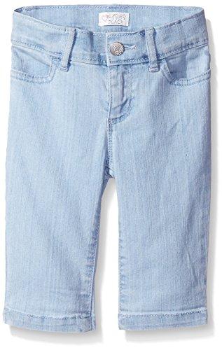 The Children's Place Big Girls' Denim Bermuda Pant Slim, Bleach Blue Wash, 6X/7S