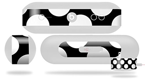 Kearas Polka Dots White On Black Decal Style Skin - fits Beats Pill Plus (BEATS PILL NOT INCLUDED) by WraptorSkinz