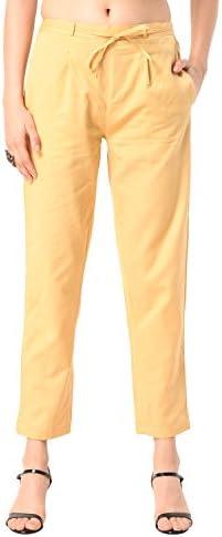 Shararat Women's Cotton Cigarette Pants
