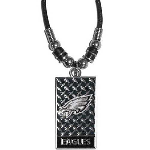 nfl-officially-licensed-gridiron-diamond-plate-rope-necklace-philadelphia-eagles