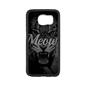 Samsung Galaxy S6 Cell Phone Case Black Meow LSO7769086