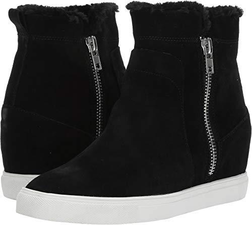 - STEVEN by Steve Madden Women's CAMELA Sneaker Black Suede 7.5 M US