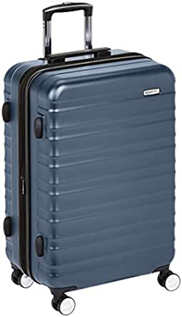 AmazonBasics Premium Hardside Trolley Luggage with Built-In TSA Lock - 28-Inch, Navy Blue
