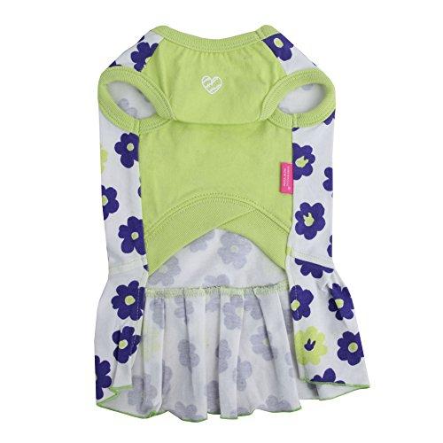 Pinkaholic New York Petunias One Piece Dress, Medium, Lime
