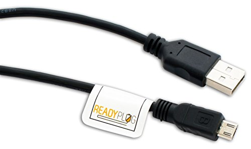 ReadyPlug USB Cable for Garmin fleet 670V GPS Picture/Photo/Computer/Data Transfer (Black, 6 Feet) -