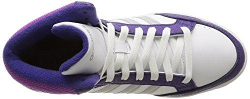 adidas NEO Hoops Team Mid - Zapatillas altas infantil Multicolore - Ftwr White/Matte Silver/Collegiate Purple
