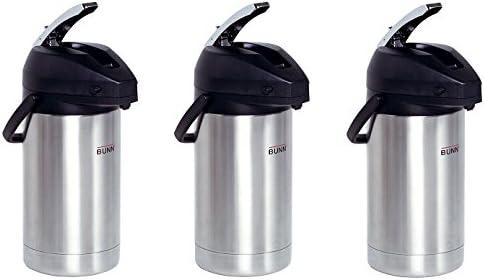 BUNN 32130.0000 3.0-Liter Lever-Action Airpot, Stainless Steel (3-Pack) 41lnFfaaAAL