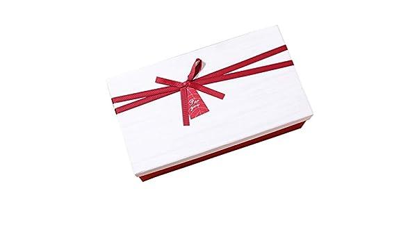 Caja de Regalo Rectangular de cumpleaños Decoración de Cinta roja Bufanda Tie Champagne Packaging: Amazon.es: Hogar