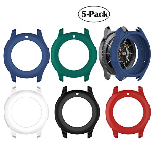 Bangyee Compatible Samsung Galaxy Watch (46mm) /Gear S3 Frontier Case, TPU Shock-Proof Protective Bumper Sleeve Protector Case Cover for Galaxy Watch (46mm) /Gear S3 Frontier (5Pcs)