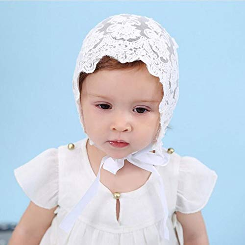 Florenceenid Charming Breathable Baby Girls Sun Hat Summer Cute Solid Color Hollow Out Baby Girls Lace Bowknot Fisherman Hat Cap