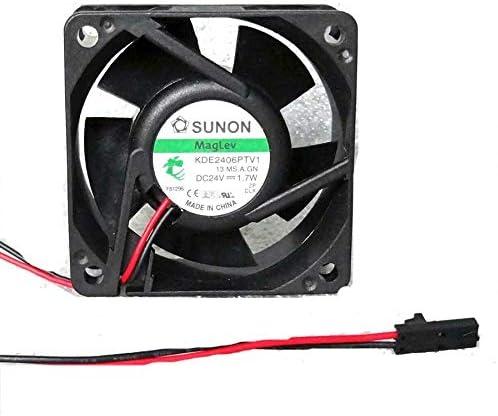Cooler Fan for Sunon KDE2406PTV1 60mm x 25mm MagLev Fan 24V DC 2 Pin