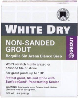 (Custom Building Product WDG1 1lb White Non-Sanded Tile Grout)