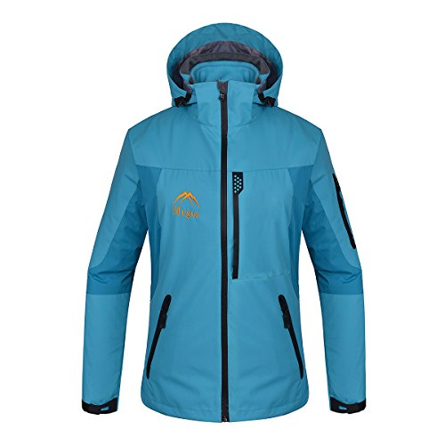 168cm Snowboard (Mcgos Women's 3in1 Waterproof Breathable Outdoor Sports Windproof Hooded Jacket (Medium, Blue))