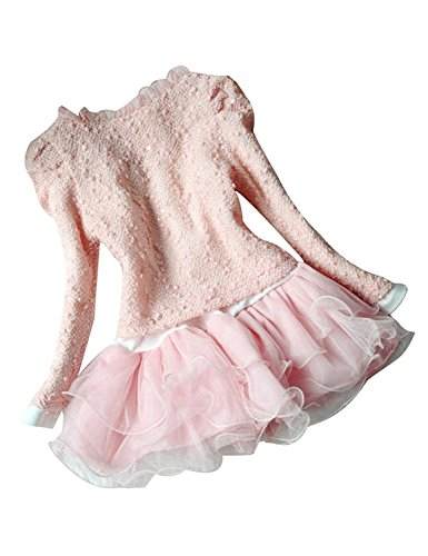 Metee Dresses Baby Girls 2 Piece Cardigan Clothes Kids TuTu Dress Outfit Clothing (Pink, S(Advice, 1-2 Years))