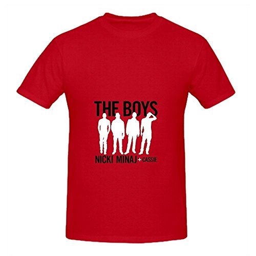 Boys Nicki Minaj Funk Men Crew Neck Cute T Shirts Red