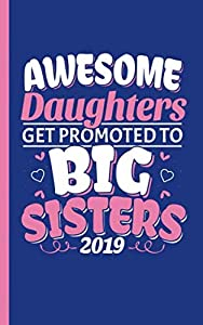 """Promoted to Big Sister Journal Notebook - Draw and Write: Half Lined Half Blank Page, Kids Story Writing and Sketch Drawing Note Book, Small 5x8"""" (New Baby Sibling Gifts Vol 4)"""