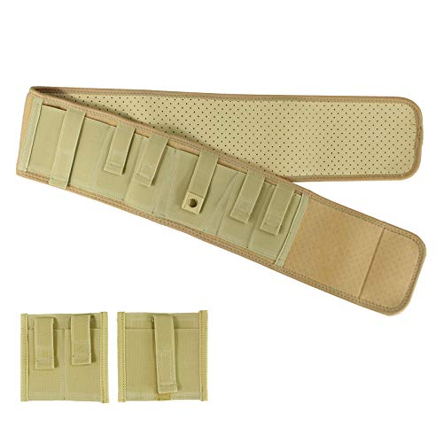 Depring Belly Band Holster for Concealed Carry Ultra Comfort Ambidextrous Ventilated Neoprene Waist Band Concealment Holster Plus Size (Light Yellow, 47 inch)