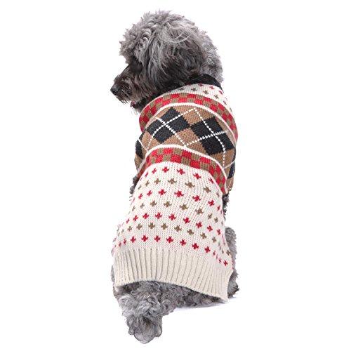 03cf19595649 HAPEE Dog Sweater for Christmas Santa Pet Cat Clothes