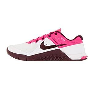 NIKE Women's Metcon 2 White/Nght Maroon Pnk Blst Blk Training Shoe 8.5 Women US