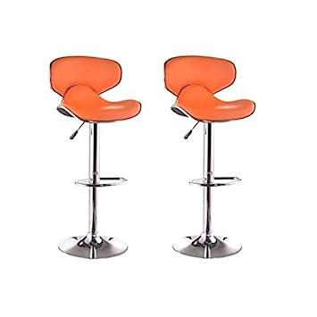 york lot de 2 tabourets de bar orange - Tabouret Bar Orange