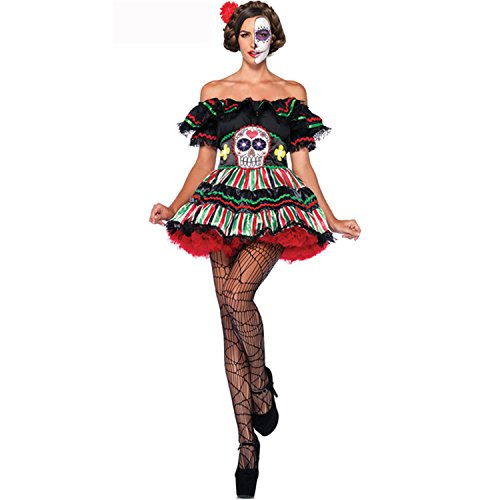 [Day of the Dead Doll Costume - X-Large - Dress Size 14-16] (Day Of The Dead Doll Costumes)