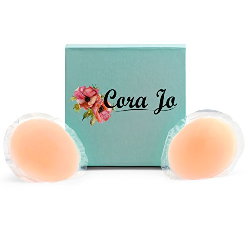 Cora Jo Reusable Silicone Nipple Covers - Travel Case - Wear Your Favorite Top Without A Bra!
