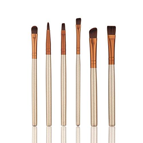 HimanJie 6pcs maquillage cosmétiques brosses pinceau de maquillage d'yeux professionnel Set