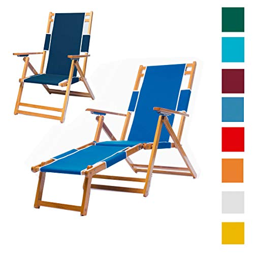 Frankford Umbrellas Heavy Duty Commercial Grade Oak Wood Beach Chair/Chaise Lounger