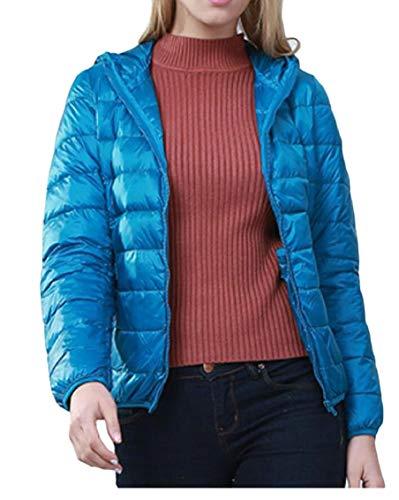 Puffer Women Coat Ultra Hooded Down 7 Up Packable Jacket Gocgt Coat Resistant Zip XTxYwT