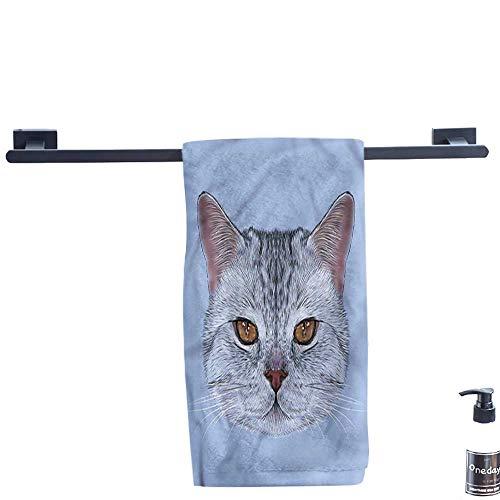 Dry Fast Towel,Cat,Scottish-Hipster-Kitty-Pet.,Gym Swim Hotel Use W 8