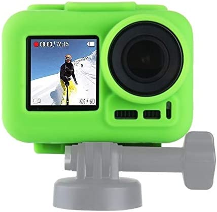 CAOMING Silicone Protective Case for DJI New Action with Frame Durable Color : Black