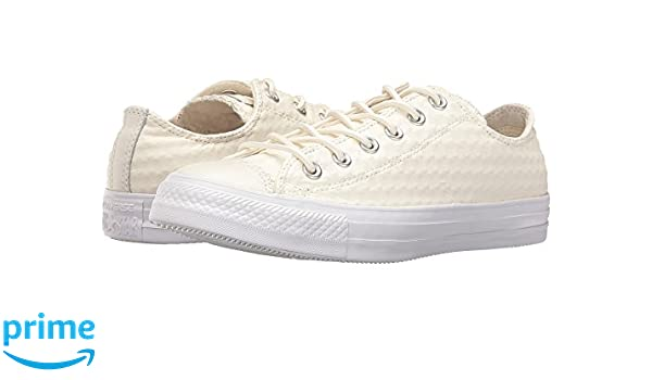 ddf75b8311f322 Amazon.com  Converse Chuck Taylor All Star Craft Leather Ox  White White White Athletic Shoes  Shoes