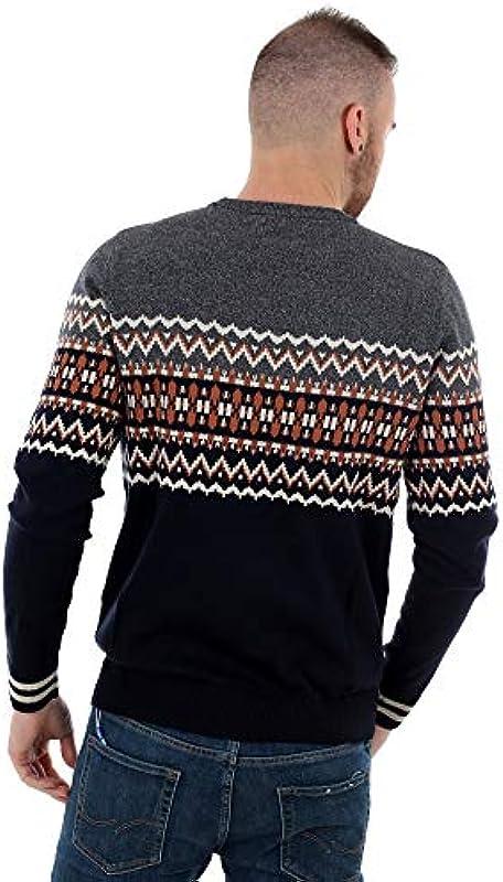 JACK & JONES męski sweter JORMADISON Knit Crew Neck: Odzież