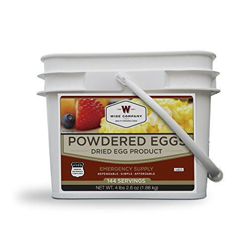 Wise Foods 144 Total Servings Powdered Eggs in a Bucket, White